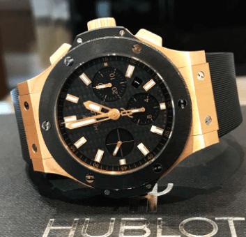 Big Bang Gold Ceramic Automatic Black Dialb watch