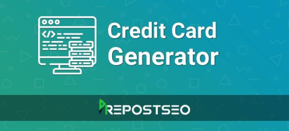 Credit Card Generator online