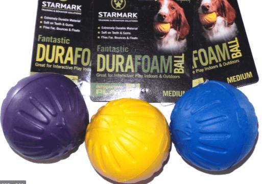 Starmark Fantastic DuraFoam Ball Tough Dog Toy